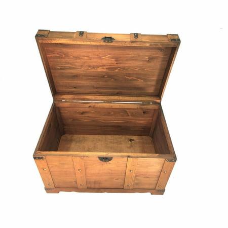 Huntington All Cedar Medium Brown Wood Storage Trunk Wooden Treasure (Huntington Stores)