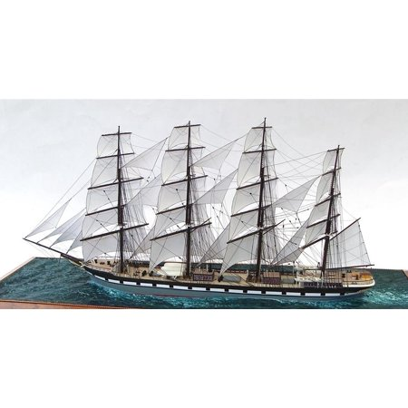LAMINATED POSTER Eleven Inches Hull Length Full Rigged Ship Model Poster Print 24 x 36
