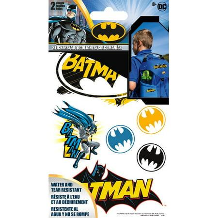Sticker Stickables Tyvek - Batman - 2 Sheet New Licensed st1401 - Batman Logo Stickers