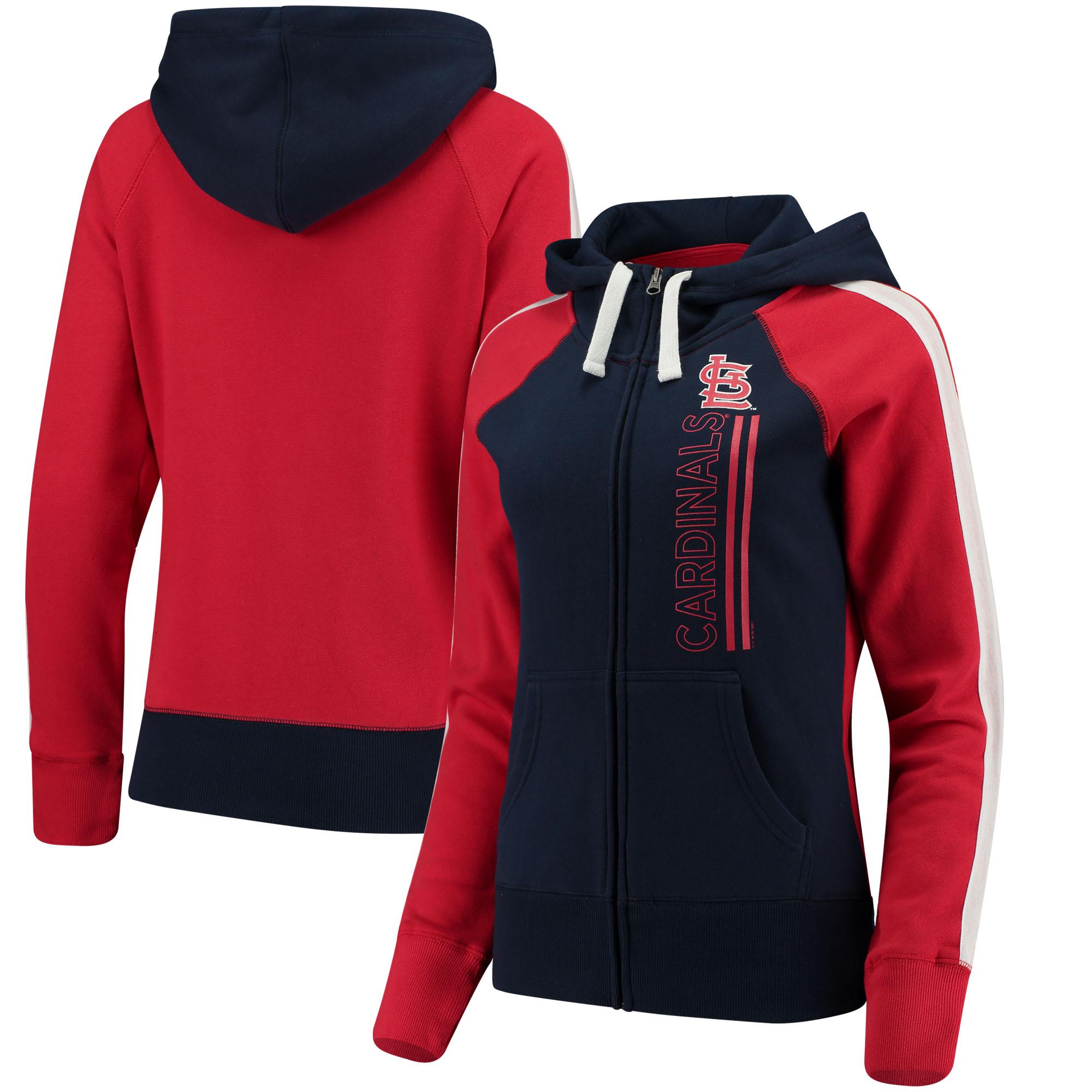 Women's G-III 4Her by Carl Banks Navy St. Louis Cardinals Full-Zip Linebacker Jacket