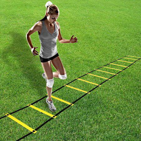 Zerone 4m 8 Rung Agility Training Ladder Soccer Ball Football Flexibility Speed Training Fitness Jumping Ladder Walmart Com Walmart Com