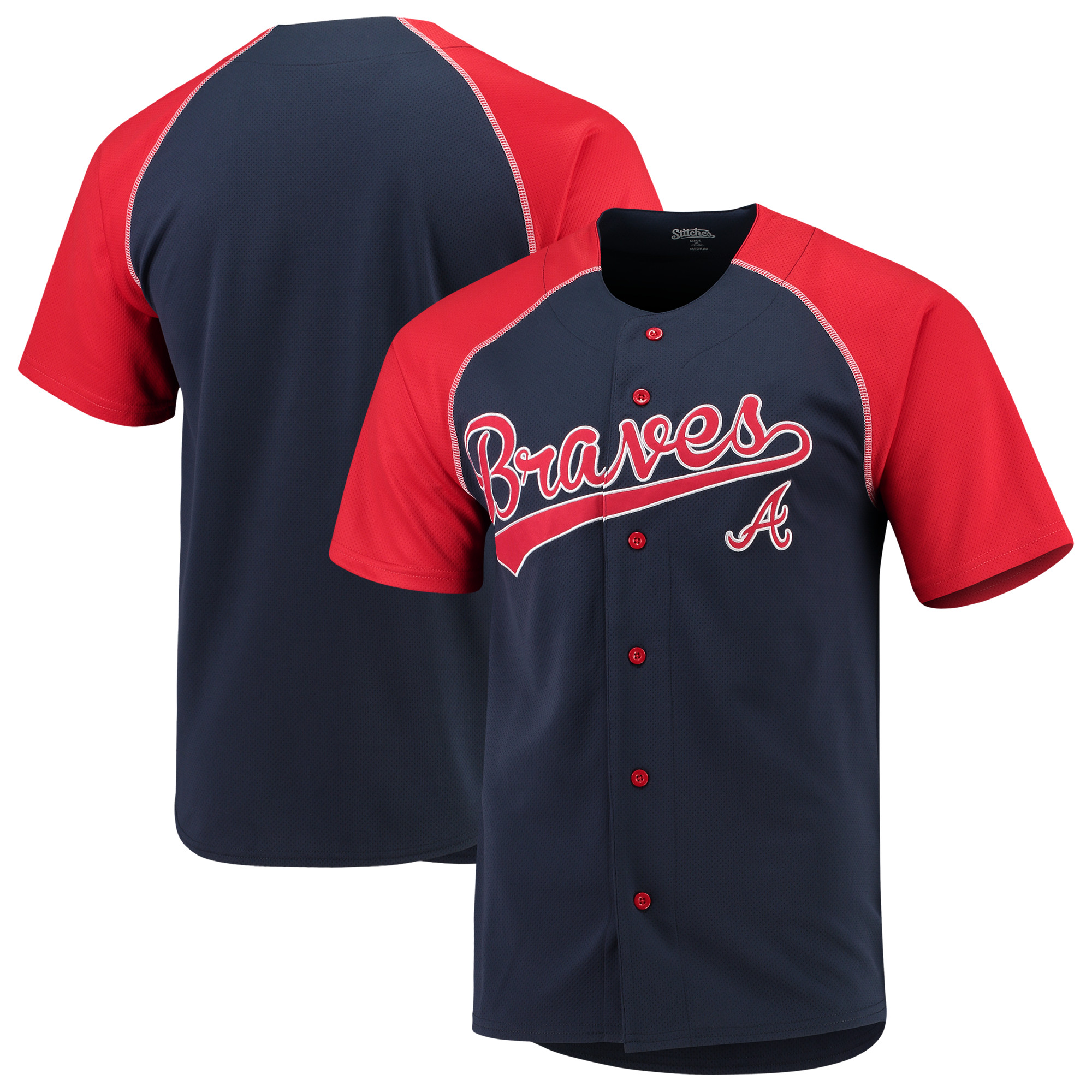 Atlanta Braves Stitches Team Jersey - Navy/Red