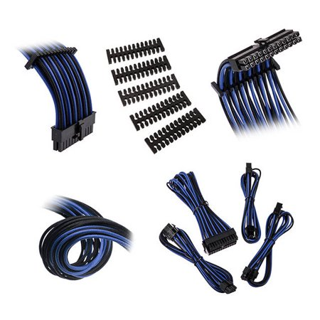 Extension Cable Kit - Bitfenix Alchemy 2.0 Extension Cable Kit - Black/ Blue (BFX-ALC-EXTKB-RP)