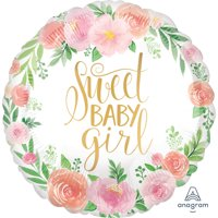 """Floral Baby Girl 18"""" Balloon (1)"""