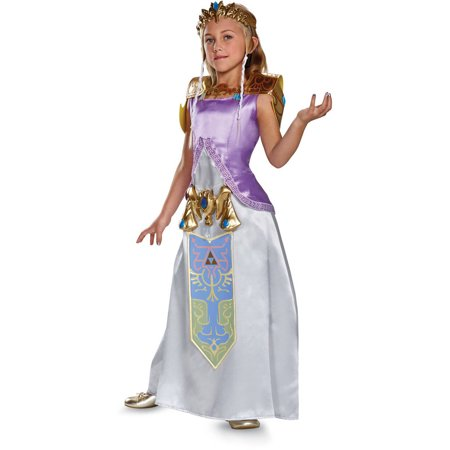 Legend of Zelda Princess Zelda Deluxe Child Halloween Costume - Princess Jasmine Halloween Costume For Kids