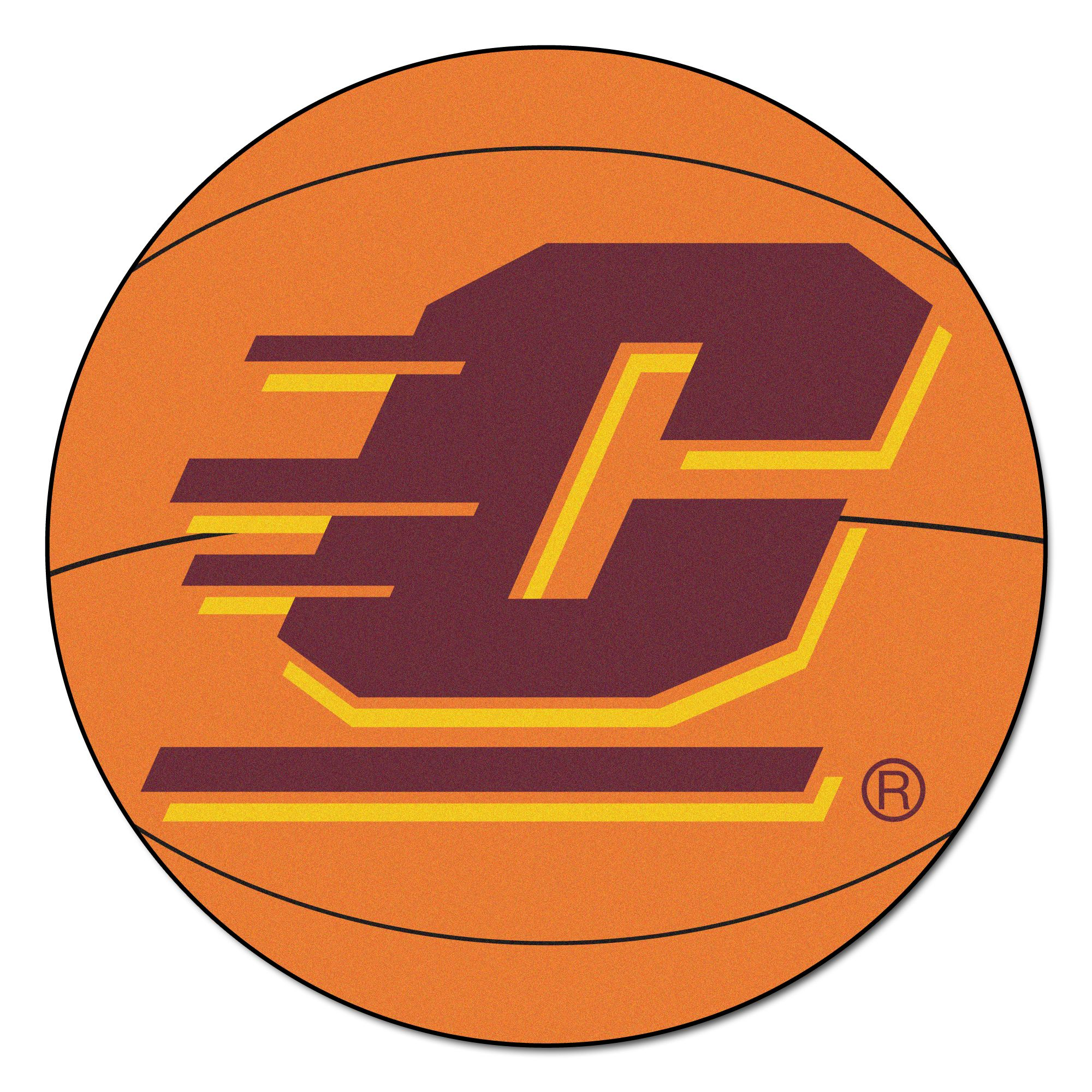 367 Fanmats College NCAA Central Michigan University 27 Inch diameter Nylon Face durable Non-skid chromojet-printed washable Basketball Mat
