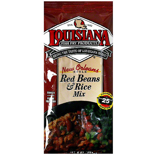 Louisiana Fish Fry Products Red Beans & Rice Mix, 8 oz (Pack of 12)