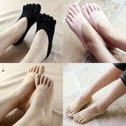 Fashion Women Low Cut Crew Ankle Socks Cute Five Finger Toe Hosiery Stockings