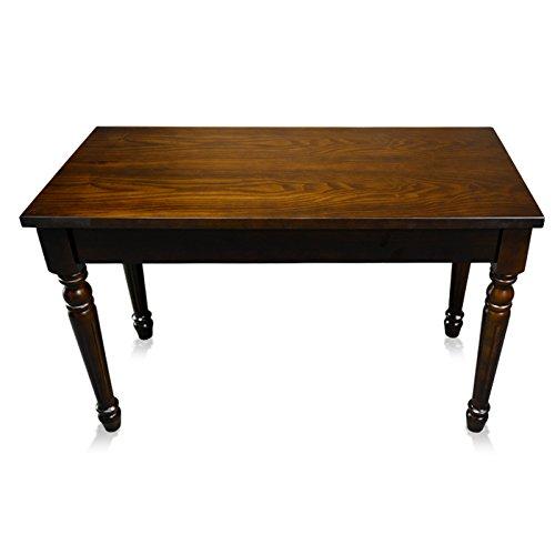 Frederick Duet Piano Bench - Walnut Satin Hard Top w/ Louis Legs