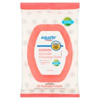 (2 Pack) Equate Bahama Wave Flushable Cleansing Cloths, 32 Ct