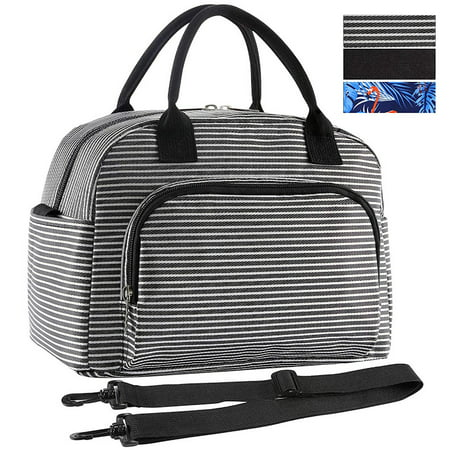 Lunch Bag, Large& Durable Insulated Water-resistant Cooler& Thermal Lunch Bag for Women and Men, Fashionable Lunch Box with Detachable Shoulder Strap for Work, School, Beach, Picnic, Camping Camp Rock Lunch Box