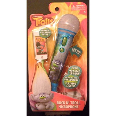 Dreamworks Rock N Troll Microphone  Connects To Audio Device By Trolls