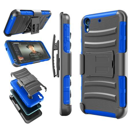 Htc Women Accessories - HTC Desire 626 Case, Desire 626S Case, Tekcoo [Hoplite Series] Shock Absorbing Holster Locking Belt Clip Defender Heavy Kickstand Case Cover Shell For HTC Desire 626S / 626
