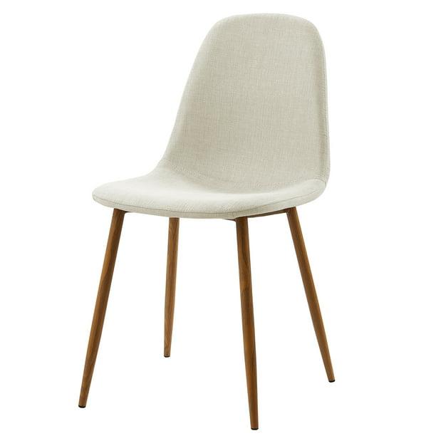 Versanora - Minimalista Fabric Set Of 2 Chairs - White