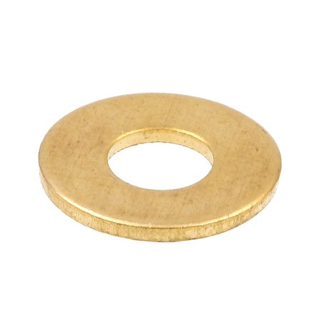 Prime-Line 9079685 Flat Washers, SAE, #10 X 7/16 in. OD, Solid Brass, 100-Pack Brass Flat Washer