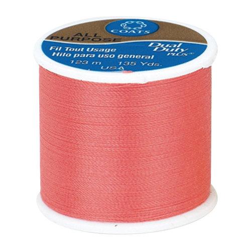 Coats & Clark Dual Duty Plus Thread, 135 yds, Flamingo