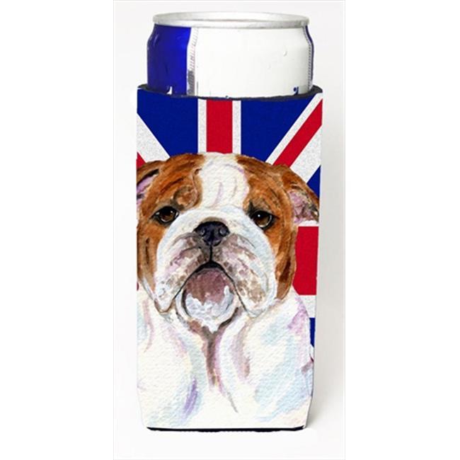 English Bulldog With English Union Jack British Flag Michelob Ultra bottle sleeves For Slim Cans - 12 Oz. - image 1 of 1