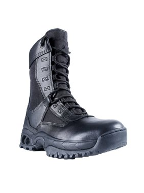"Ridge Footwear Men's AIR-TAC Ghost with Zipper 8"" Leather Boot Rip-Stop Nylon"
