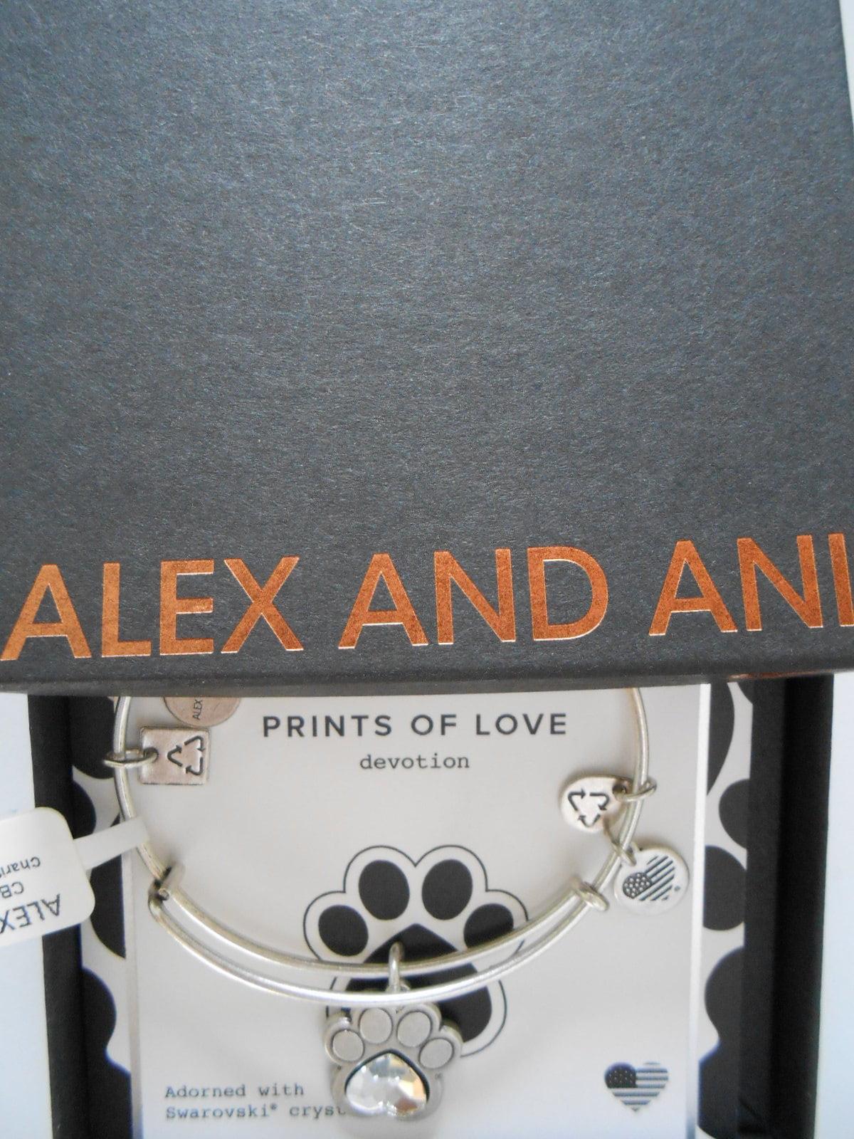 Alex and Ani Charity By Design, Prints of Love EWB Bangle Bracelet