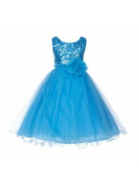 4a4f5e471 Product Image Ekidsbridal Elegant Stylish Glitter Sequin Tulle Flower Girl  Dresses Princess Dresses Ballroom Gown Birthday Girl Dress