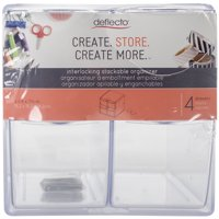 "Deflecto Stackable 4 Drawer Cube Storage Organizer-6""X6""X7.2"" Clear"