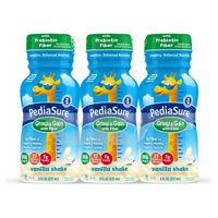 PediaSure Grow & Gain With Fiber, Kids Nutritional Shake, With Protein, DHA, And Vitamins & Minerals, Vanilla, 8 fl oz (Choose Pack)