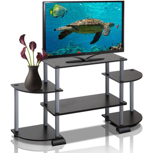 Turn-N-Tube Rounded Corner TV Stand Entertainment Center, Multiple Colors