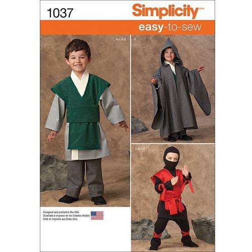 Simplicity Boys' Easy To Sew Costumes, 3-4-5-6-7-8