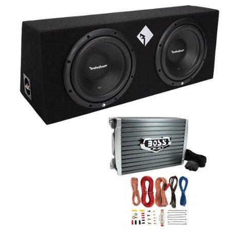 Rockford Fosgate R1 2X10 10  800W Loaded Subwoofer Sub Enclosure Amp Amp Kit