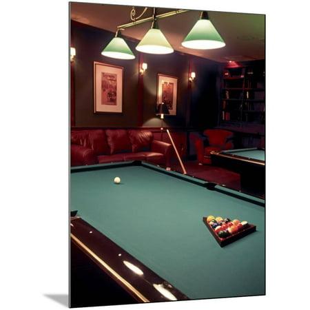 Racked Set of Balls, Boston Billiards, MA Wood Mounted Print Wall Art By John Coletti