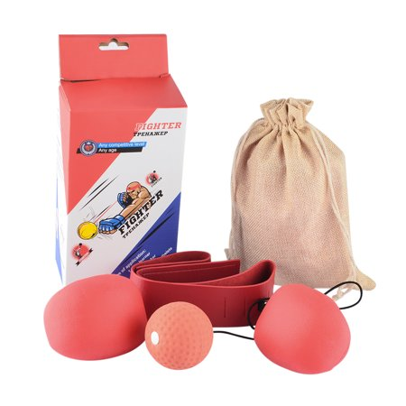 Teenager Boxing Speedball Set Reactivity Awareness Training Punching Speed Ball for Fighting Free Combat - Random Color of Ball and