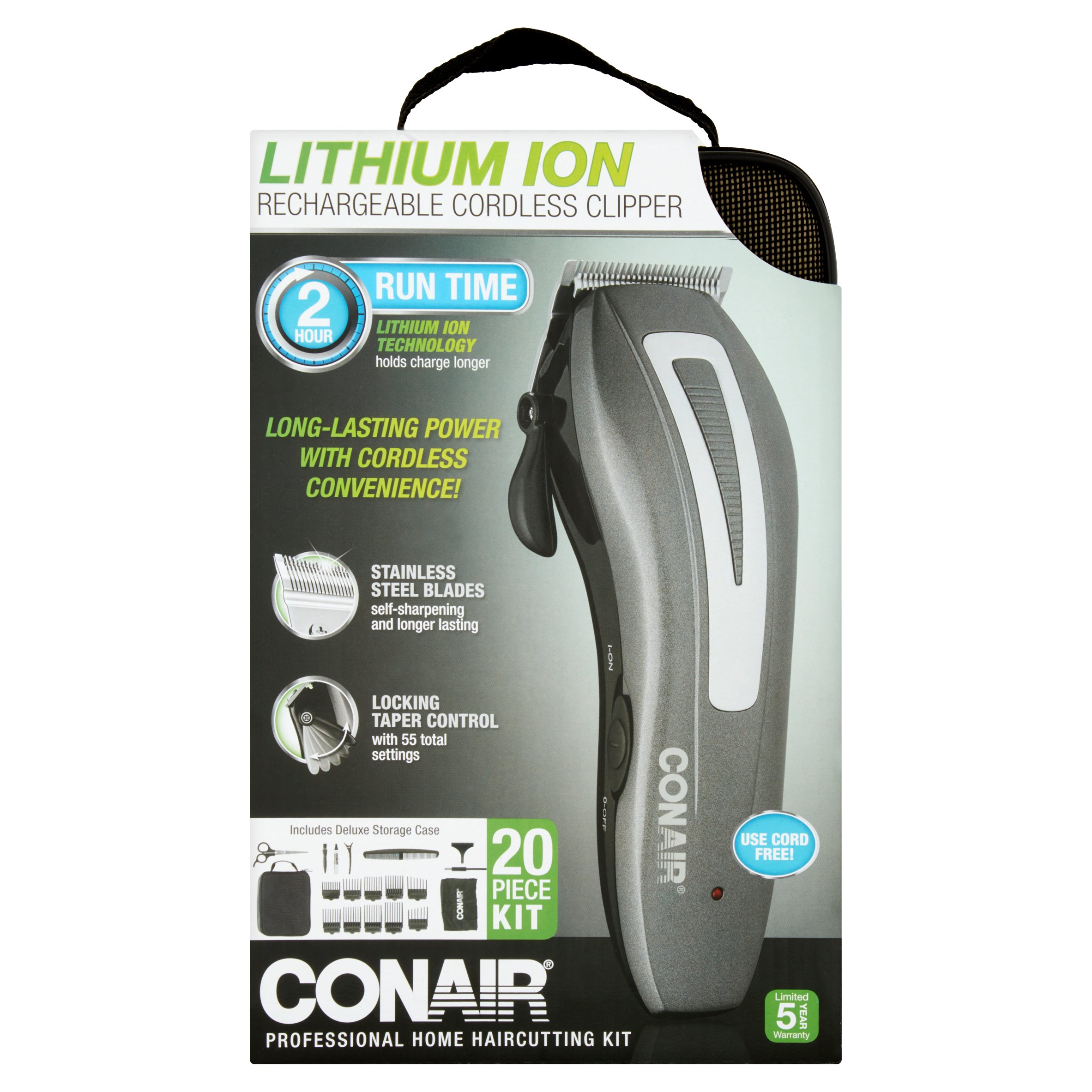 Conair Lithium Ion Rechargeable Cordless Clipper