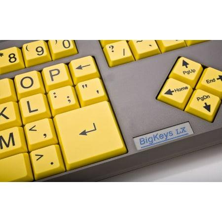 AbleNet BigKeys LX Keyboard USB Wired (Yellow Keys with Black Jumbo Oversized Print Letters) (BKLXYQ) - image 2 de 3