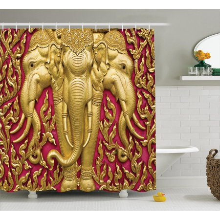 Elephants Decor Elephant Carved Gold Paint On Door Thai Temple Spirituality Statue Clic Bathroom Accessories