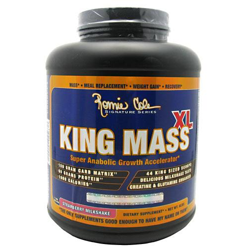 Ronnie Coleman Signature Series, King MASS-XL Super Anabolic Growth Accelerator, Strawberry Milkshake, 6 Pound