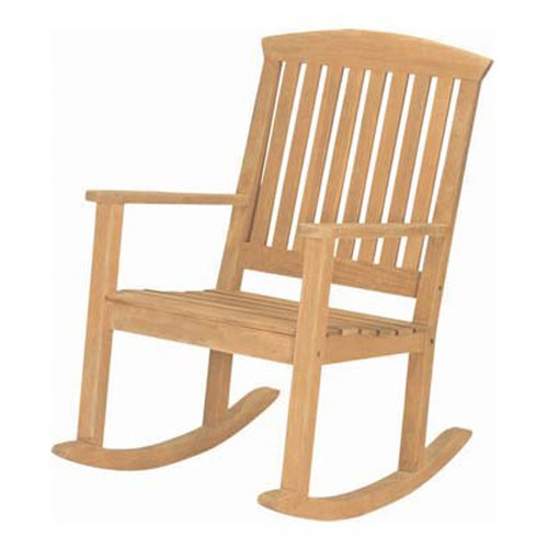 HiTeak Slat Wood Rocking Chair
