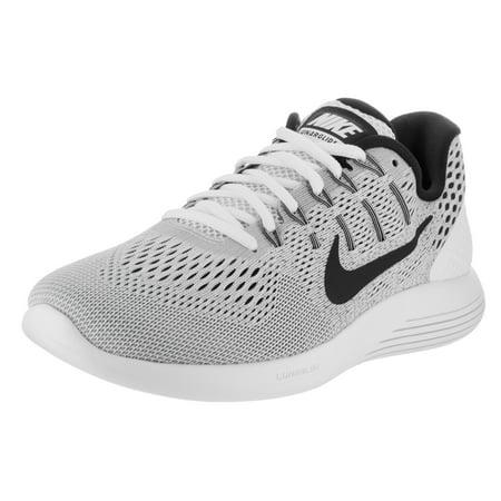 nike mens lunarglide 8 white/black wolf grey running shoe 11.5