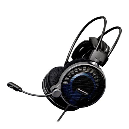 Audio Technica High Fidelity Gaming Headset   Stereo   Black  Blue   Mini Phone   Wired   48 Ohm   5 Hz   35 Khz   Gold Plated   Over The Head   Binaural   Circumaural  Ath Adg1x