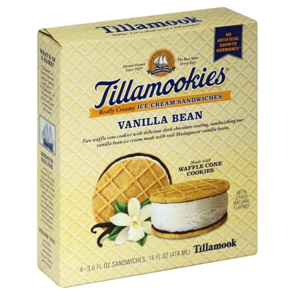 Tillamook Tillamook  Ice Cream Sandwiches, 4 ea
