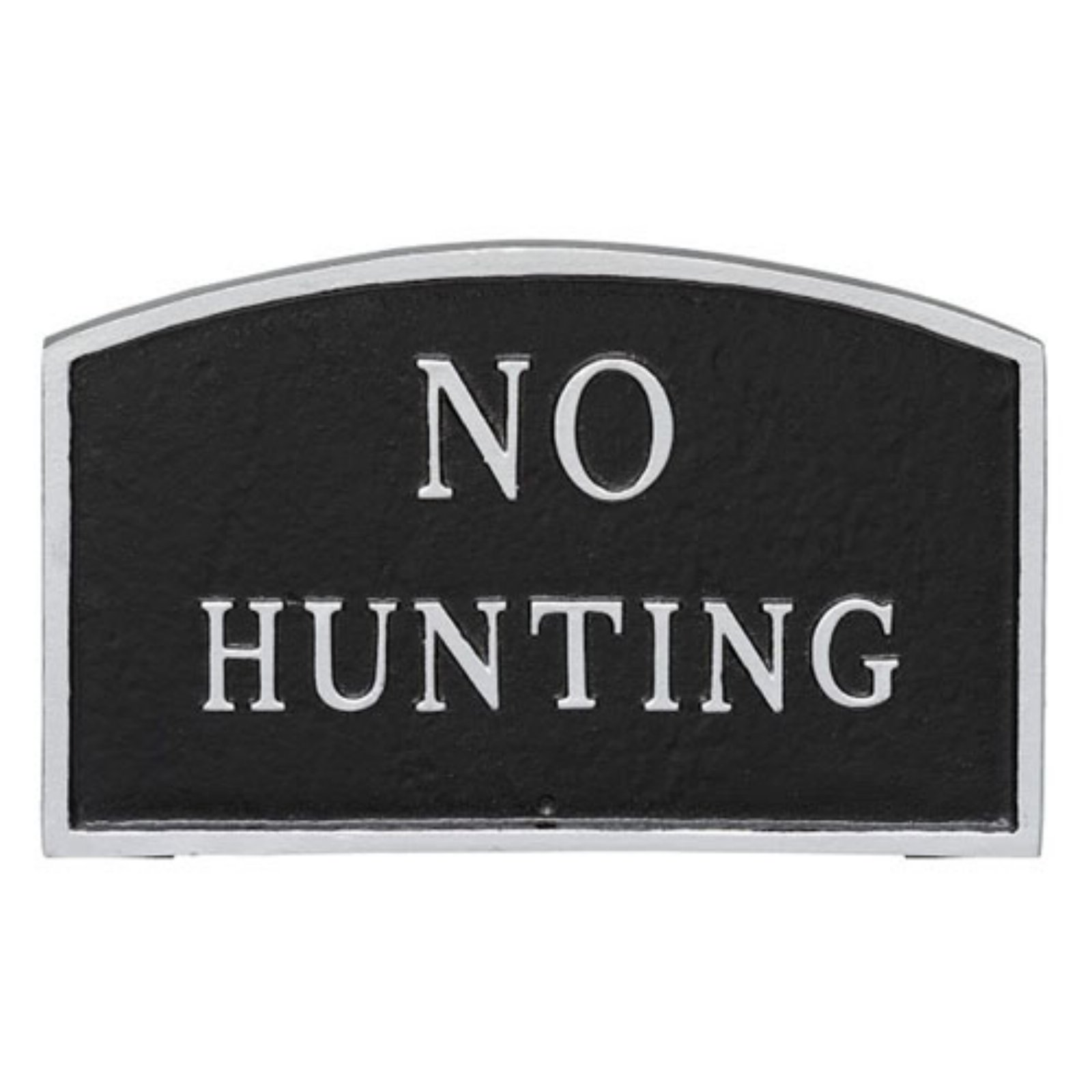 Montague Metal Products No Hunting Arched Wall Plaque