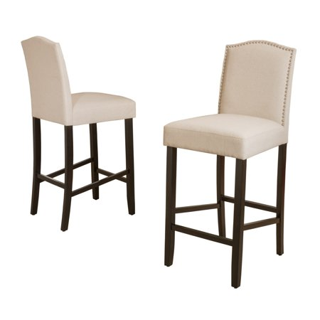 Christopher Knight Home Logan 30-inch Fabric Backed Barstool by  (Set of (Chapman 27-5 Barstool Iron Christopher Knight Home)