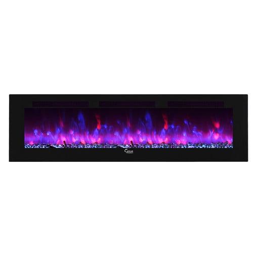 Caesar Fireplace Fuoco Adjustable Electric Fireplace - Walmart.com