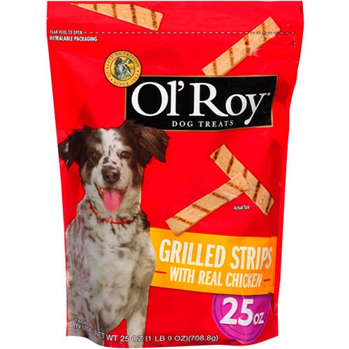 Ol' Roy Grilled Strips With Real Chicken Dog Treats, 25 oz by Ol' Roy