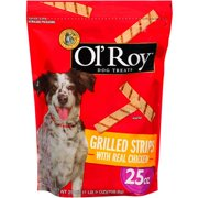 Ol` Roy Grilled Strips With Real Chicken Dog Treats, 25 oz