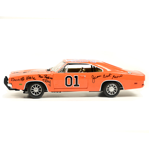 The Dukes of Hazzard Cast Autographed Die-Cast 1:18 General Lee