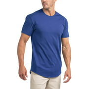 Ma Croix Men's Hipster Elongated Longline Casual Big and Tall T Shirts