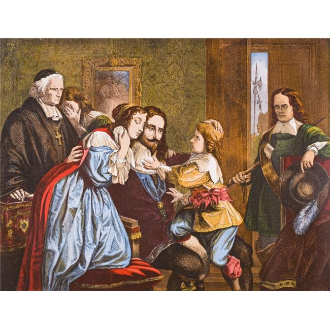 Posterazzi DPI1855436LARGE King Charles I of England 1600-1649 Taking Leave of His Children Before His Execution From Old Englands Worthies by Lord Brougham Poster Print, Large - 32 x 24 - image 1 de 1