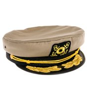DORFMAN PACIFIC NEW Outdoor Adjustable Twill Yacht Boat Captain Hat Cap NWT