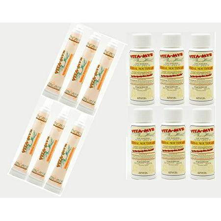 12 Pk VITA-MYR Travel Size Herbal Natural Toothpaste & Natural Mouthwash – Safe & Effective 6ea 2 Oz Mouthwash & 6ea 1 Oz Toothpaste No SLS, No Sugar, No Fluoride Gluten Free & Vegan (Travel Toothpaste Sls)