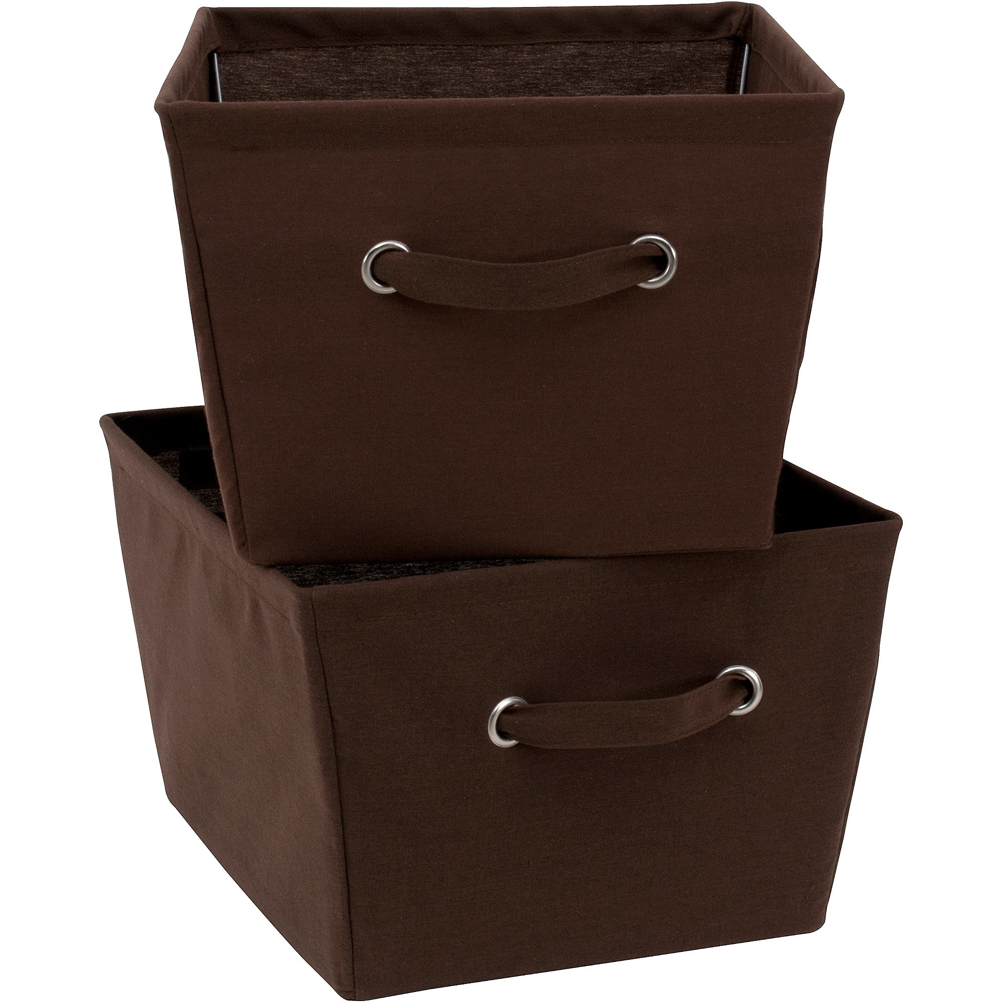 Mainstays Large Canvas Bins 2 Pack-Brown